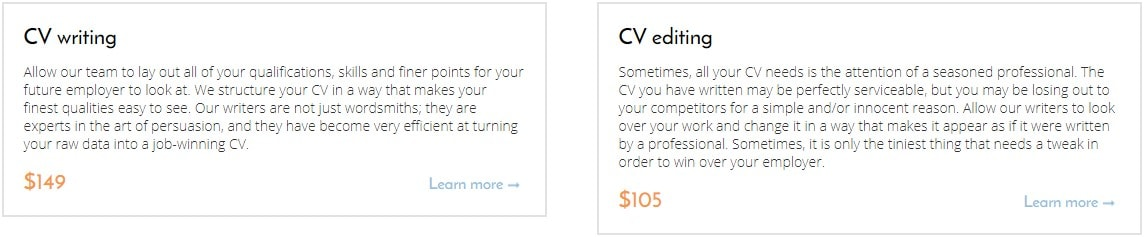 cv writing and editing by careersbooster.com