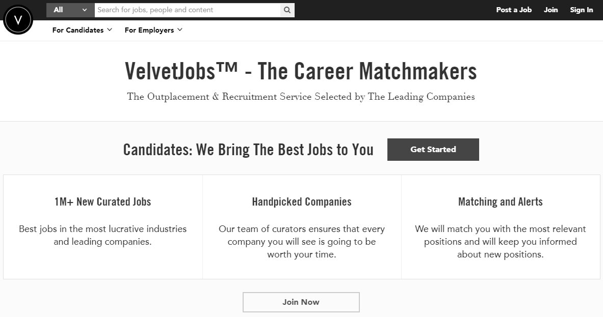 VelvetJobs.com Review  Resume Com Review