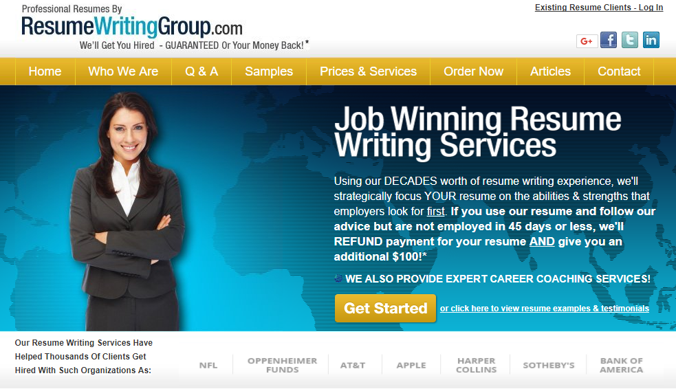 ResumeWritingGroupcom Review Resume Writing Services Reviews
